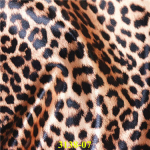 Wholesale Popular PU Material Leopard Footwear Upper Leather pictures & photos
