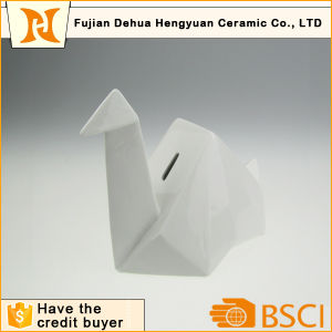Cheap 3D Tangram Papercrane Ceramic Coin Bank for Sale pictures & photos