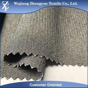 Herringbone Pattern Polyamide Rayon Elastane Stretch Bengaline Fabric for Dress pictures & photos