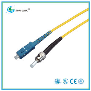 SC/PC-ST/PC Sm 9/125 Simplex 2m Fo Patch Cord pictures & photos