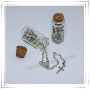 Religious Metal Bottle, Round Glass Bottle, Cross Bottle, Rosary Bottle (IO-p035) pictures & photos