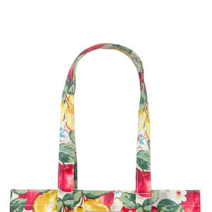 Floral Pattern Printing Waterproof PVC Canvas Shopping Bag (2293) pictures & photos