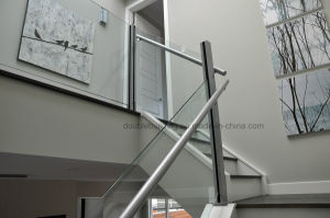 Exterior Cement Stair Railing with Aluminum Slot Baluster pictures & photos