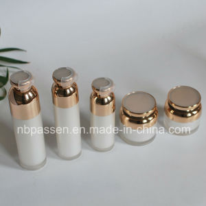 Pearl White Acrylic Cosmetic Bottle with Airless Pump (PPC-NEW-097) pictures & photos