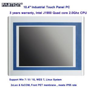 2*LAN& 6*COM 10.4 inch IP65 industrial touch panel PC pictures & photos