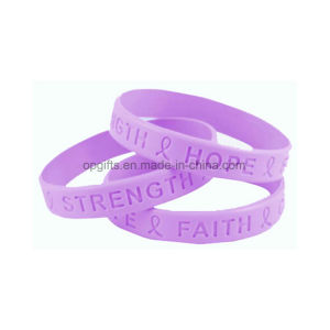 Promotional Glow in Dark Printed Silicone/Silicon Wrist Band pictures & photos