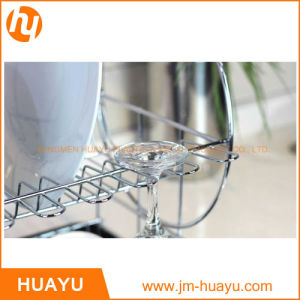 Chrome-Plated Cross-Wire Cooling Rack, Wire Pan Grate, Baking Rack, Icing Rack, 2-Height Adjusting Legs Rack pictures & photos