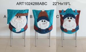 Santa, Snowman and Moose Chair Cover Decoration Gift, 3 Asst pictures & photos
