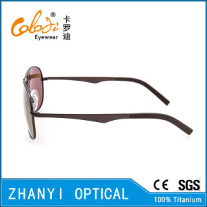 New Arrival Titanium Sun Glasses for Driving with Polaroid Lense (T3026-C3) pictures & photos