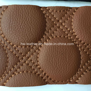 Sponge Back Microfiber Leather for Car Seat Hw-C1701 pictures & photos
