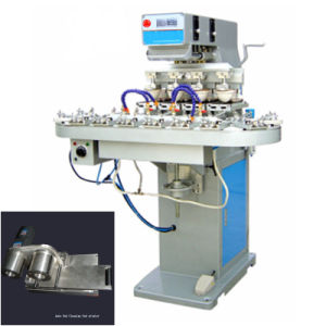TM-C4-CT 4-Color Leather and Low-Voltage Electrical Pad Printing Machine with Conveyor pictures & photos