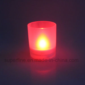Battery Operated Party Artificial Flameless Decorative Scented Jar LED Candle Light pictures & photos