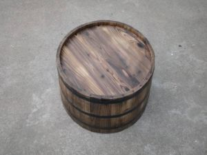 Perfect Cedar Garden Flower Tree Pot Half Whiskey Barrel Planter pictures & photos