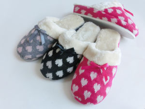 Ladies Indoor Nice Soft Wonmen Slipper for Winter with Knitted pictures & photos