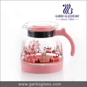 1.5L Printing Glass Tea Pot pictures & photos