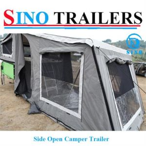 Green Color Side Open Camper Trailer pictures & photos