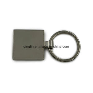 Promotion Gift Custom Rectangle Shape Wood & Metal Key Ring pictures & photos