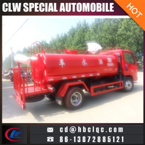 Low Price Dognfeng 5m3 Emergency Water Tanker Fire Water Tank Truck pictures & photos