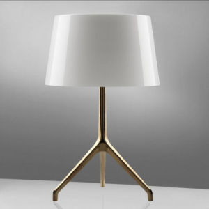 Modern Light Tripod Stainless Steel Table Lamp with Glass Shade pictures & photos