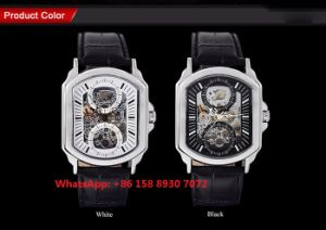 New Style Automatic Men′s Watch with Genuine Leather Strap Fs642 pictures & photos