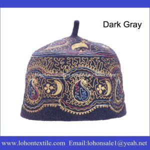 Muslim Hat Set Hijab Hat by Embrodiery Pattern Wool Felt Material pictures & photos