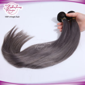 8A Grade New Arrival Straight Brazilian Gray Hair Weft pictures & photos