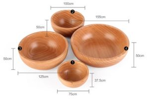 Creative Wooden Trough Bowl Solid Wood Salad Bowl Pickles Bowl for Soup Noodles Fruit pictures & photos