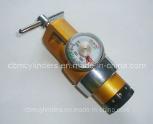 "Cga870 Pin Index O2 Regulator 6"" Golden Color (0-15 LPM) pictures & photos"