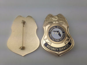 Supply Cheap Custom Pin, Metal Police Badge (GZHY-BADGE-003) pictures & photos