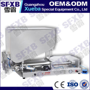 Sfgg-500-2 Full Pneumatic Double Head Semi Automatic Paste Filling Machine pictures & photos