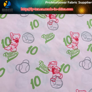 Baseball Bear Printing on Polyester Pongee Woven Textile Fabric pictures & photos