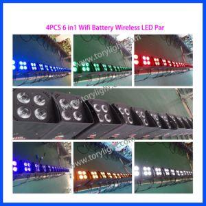LED Slim PAR Battery 4PCS*18W Wireless Disco Light pictures & photos