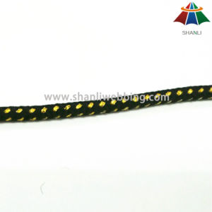 High Strength 6mm Multi Color Nylon / Polyester / PP Braided Rope / Cord with Golden Silk pictures & photos