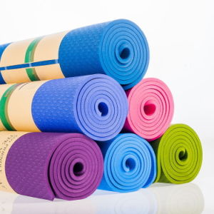 Custom Logo TPE Yoga Mat for Wholesale pictures & photos
