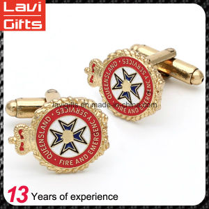 Wholesale Gold Custom Metal Cufflinks pictures & photos
