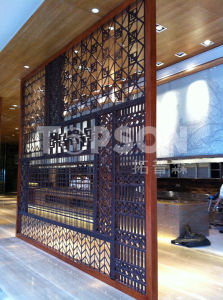 Topson Titanium Gold Stainless Steel Screens Room Dividers Partition for Interior Decoration pictures & photos