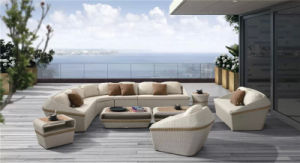 European Style PE Rattan Aluminum Outdoor Sofa