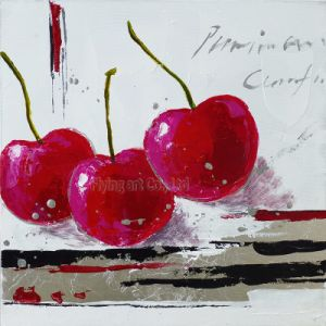 Handmade Acrylic Art Oil Painting for Cherry Fruit pictures & photos