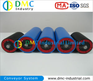 108mm Diameter Conveyor System HDPE Conveyor Idlers Blue Conveyor Rollers pictures & photos