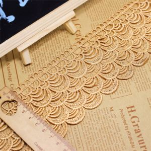 Factory Stock Garment Wholesale 8cm Width Embroidery Nylon Lace Polyester Embroidery Fabric Trimming Fancy Lace for Garments Accessory & Home Textiles & Curtain pictures & photos