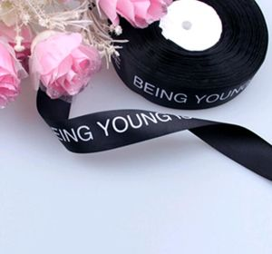 Custom Logo Designs Printed Satin Ribbon