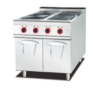 Electric 4-Plate Range with Cabinet (Square Plate) pictures & photos