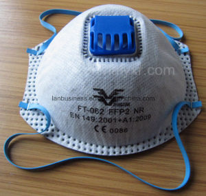 Ffp2 Active Carbon Dust Face Mask Respirator with Valve pictures & photos