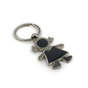 High Quality Cute Girl Shape Metal Keychain pictures & photos