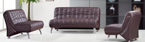 Modern Europe Design Steel Metal Leather Waiting Office Sofa (NS-S923) pictures & photos