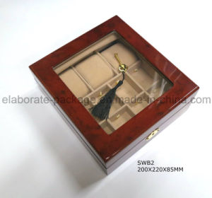 Factory Wholesale Wooden Glass Window Watch Boxes pictures & photos