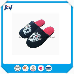 High Quality Memory Foam Custom Velvet Slippers for Men pictures & photos
