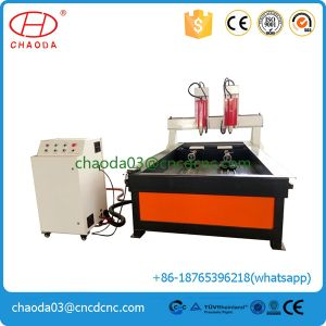 CNC Router Stone Two Heads Stone Engraver Machine with Rotary pictures & photos