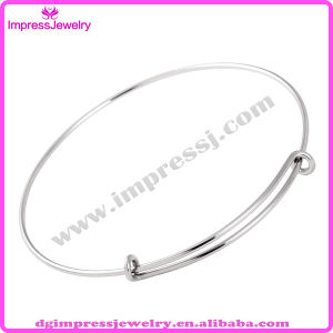 316L Stainless Steel Wire Bangle for Women Bracelet Expandable Bangle Adjustable Bracelet (IJD0385) pictures & photos