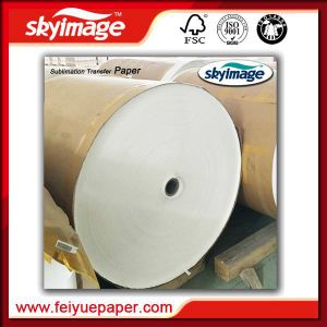 Fu-57GSM 17inch Jumbo Roll Non-Curl Fast Dry Sublimation Paper for Textile pictures & photos